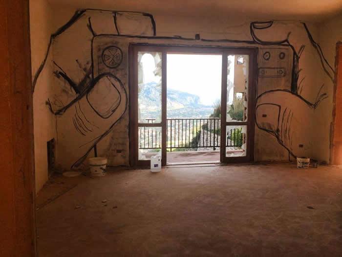 Street Arte Utopia por Collettivo FX - en Palermo, Italia
