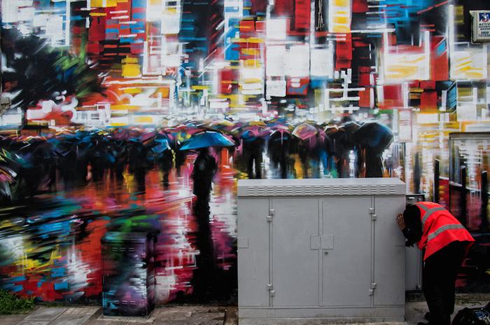 Street Art Utopia por Dank en Camden, Londres, Inglaterra
