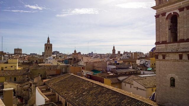 Vista de el barrio de El Carme en Valencia desde un ático  por Carlos RM<