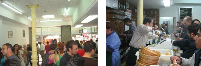El Bar Santurce en plena faena en el barrio de La Latina en Madrid<
