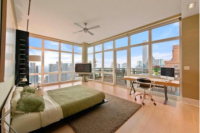 El dormitorio de El Lobo de Wall Street - Fuente: lilaygris.com