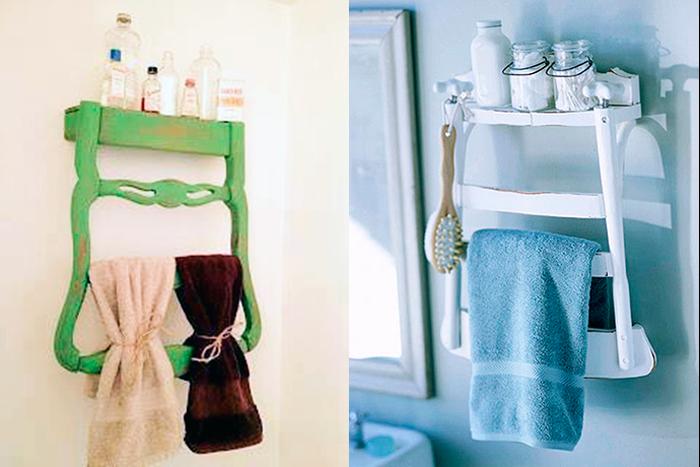 En una silla reciclada cabe tu toalla y cepillo de dientes - Fuente: tuteate.com