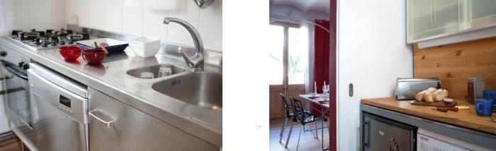 Al derribar el pasillo e instalar una puerta corredera la comunicación cocina-comedor se hizo directa. Fotografía: Stephan Zahring