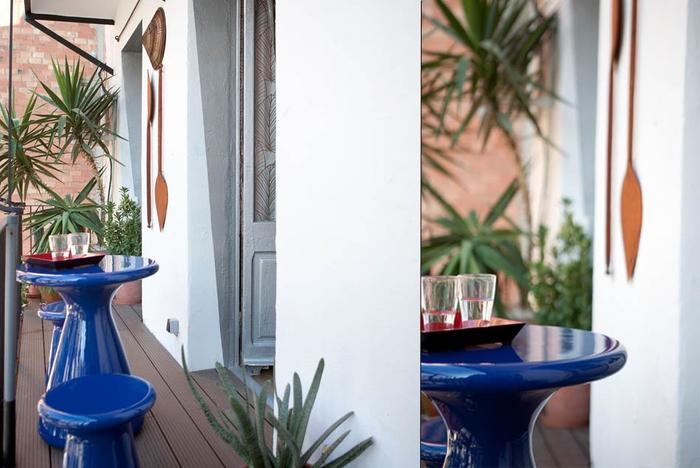 El balcón tomó protagonismo al transformarlo en un pequeño jardín. Fotografía: Stephan Zahring
