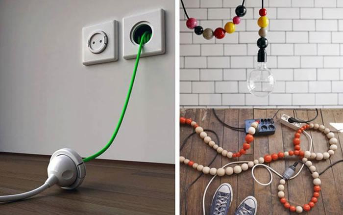 Trucos para disimular y esconder cables vistos - Decofilia.com