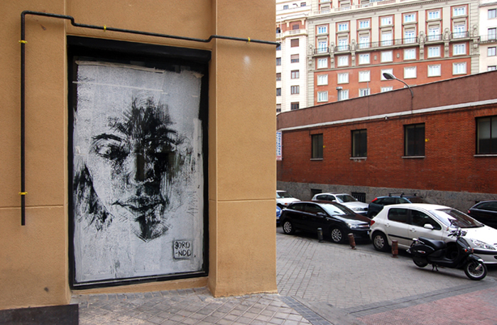 Madrid Street Art Project - Borondo, figuras en evolución