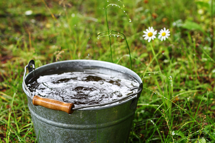 Cubo de agua
