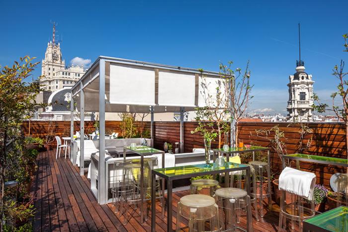 Terraza del Hotel de las Letras en Madrid