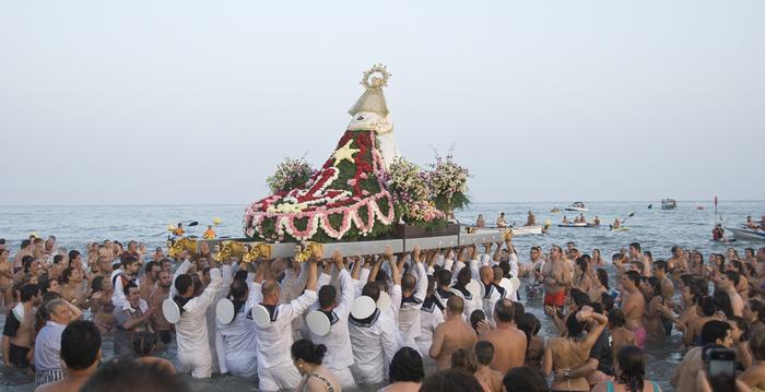 Virgen del Carmen en Málaga