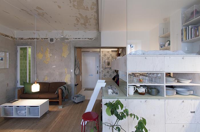 Piso reformado en Estocolmo por Karin Matz