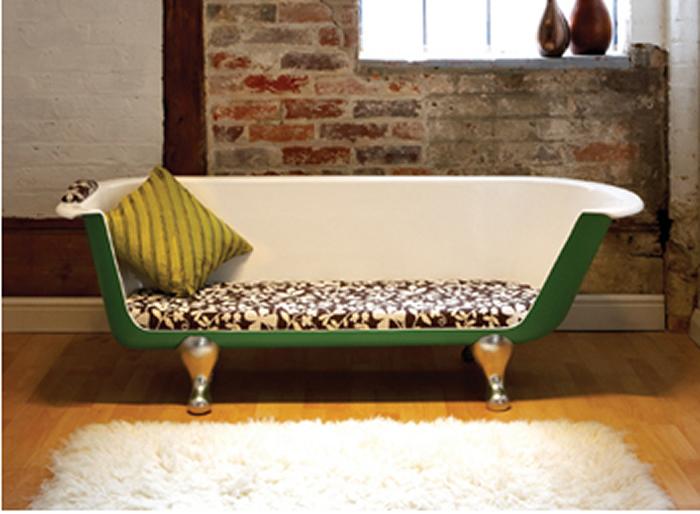 bañera reciclada para sofá