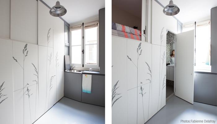 Un apartamento de 8 metros cuadrados en par s for Habitacion de 8 metros cuadrados