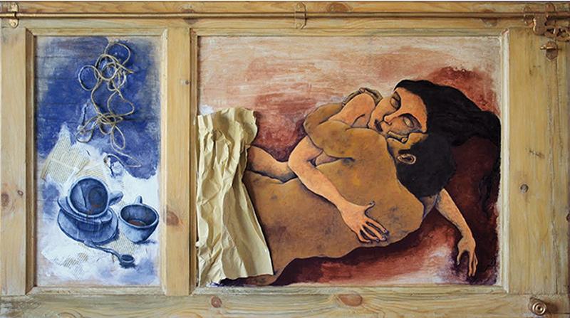 Contraventana transformada en cuadro - Aniola Guilera