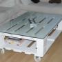 Mesa de centro hecha con palets - Fuente: Ecologiablog.com