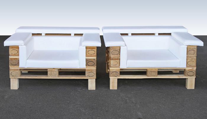 sillones hechos de palets de madera
