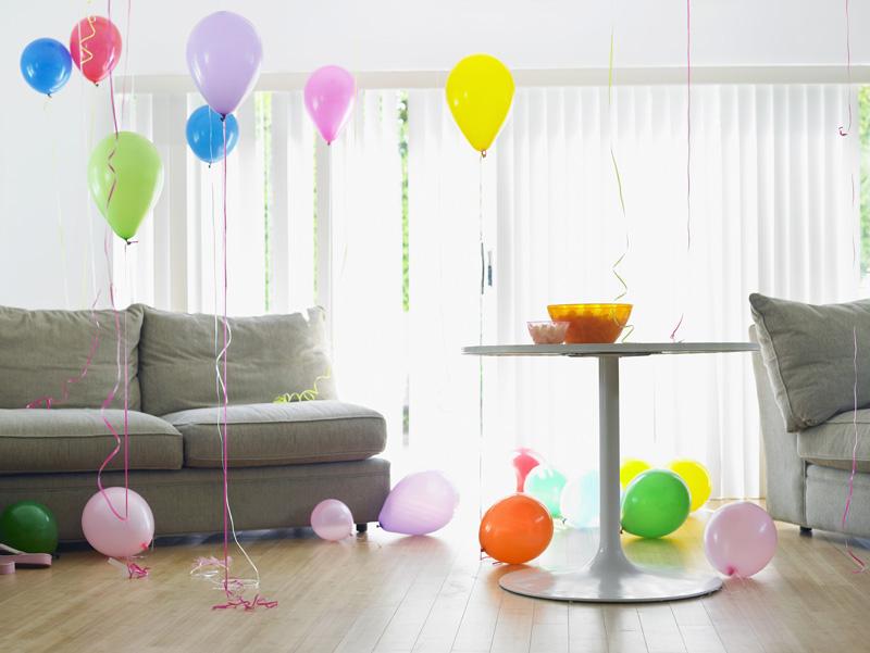 Fiestas de cumpleaños en piso de alquiler