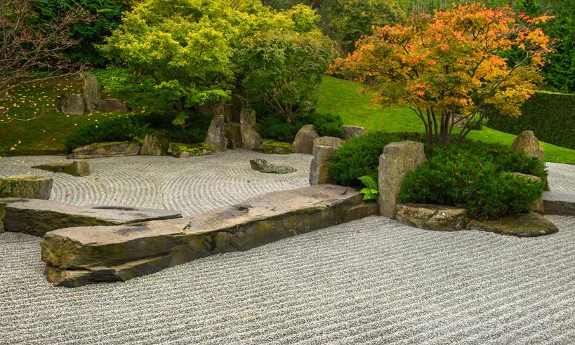 Jardín en piso de alquiler