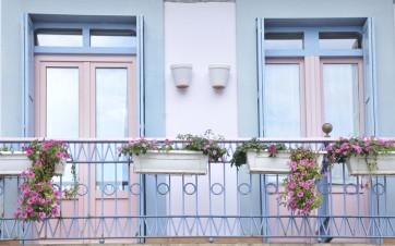 balcones en edificio