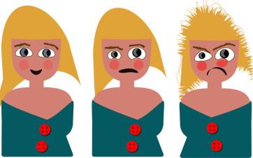 chica enfadándose