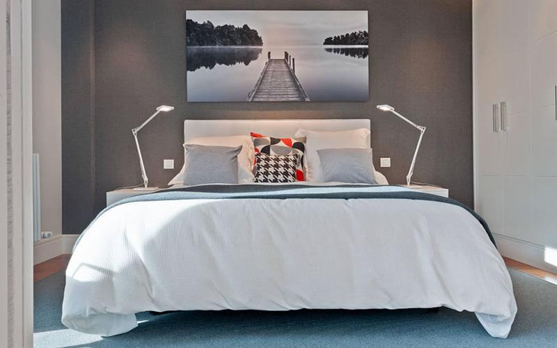 dormitorio en piso pequeño