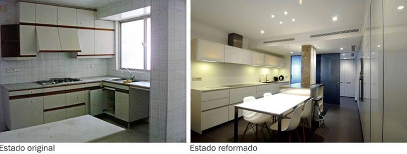 Reforma en cocina y comedor en piso pequeño