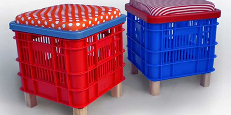 Taburetes hechos con cajas de fruta - DIY