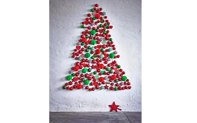 Y si pones el rbol de navidad en la pared - Arbol de navidad de pared ...