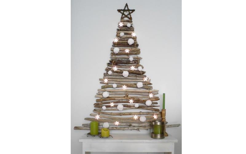 Y si pones el rbol de navidad en la pared - Arbol de navidad con ramas ...