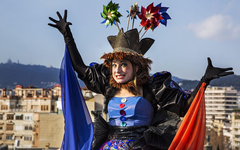 reina carnaval en barcelona