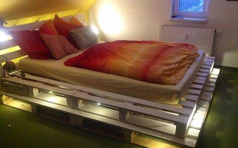 Muebles con palets - cama
