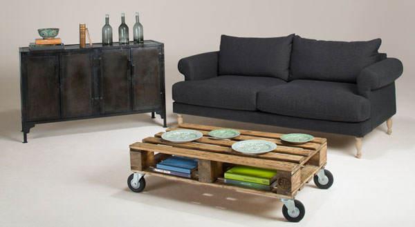 Muebles reciclados - Mesita centro con palets