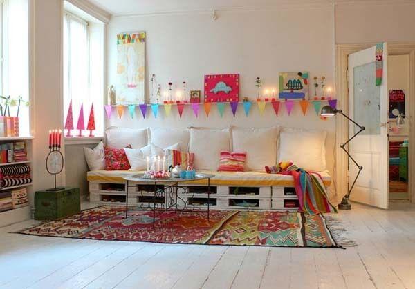 Muebles reciclados - Sofá hecho con palets