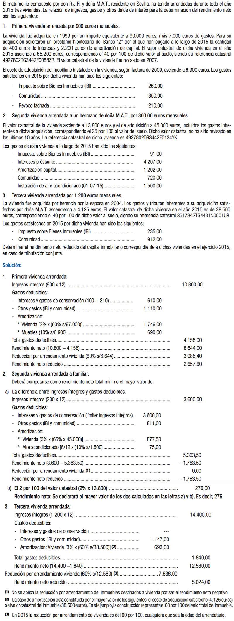 Deducción Estatal Caseros Renta 2015