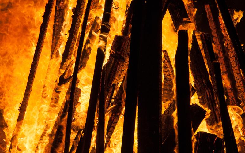 fuego en san juan