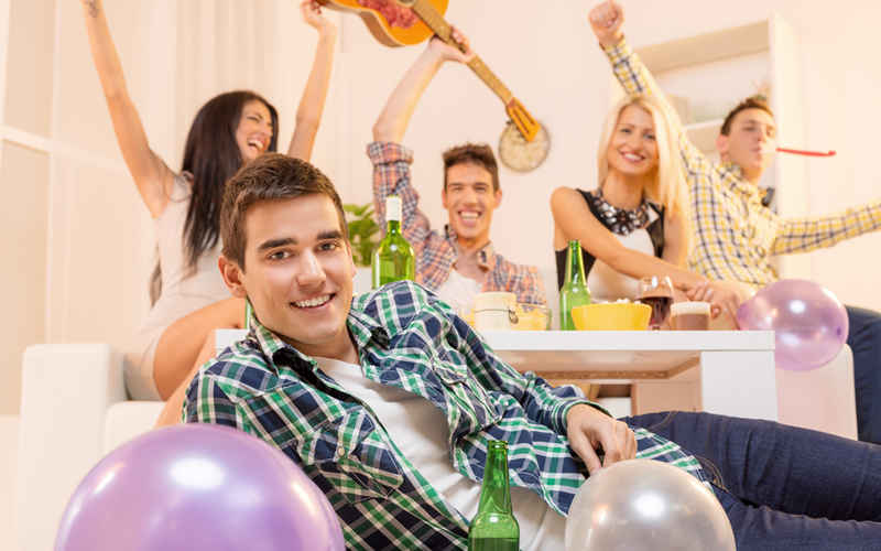 fiesta en piso en alquiler