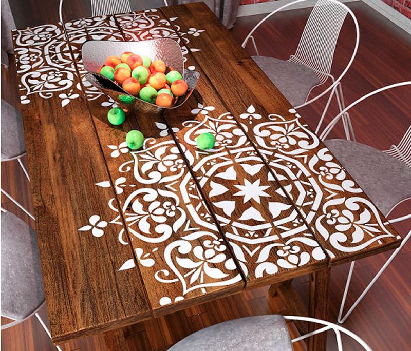 mandala en mesa