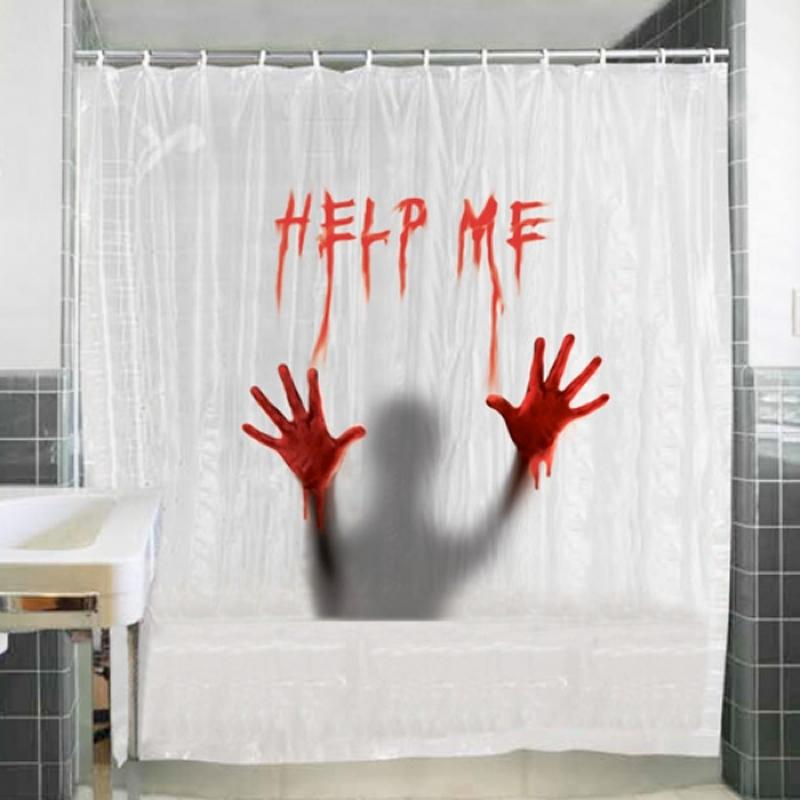 baño decorado para halloween