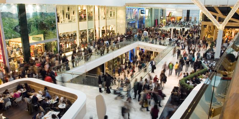 compras en centro comercial