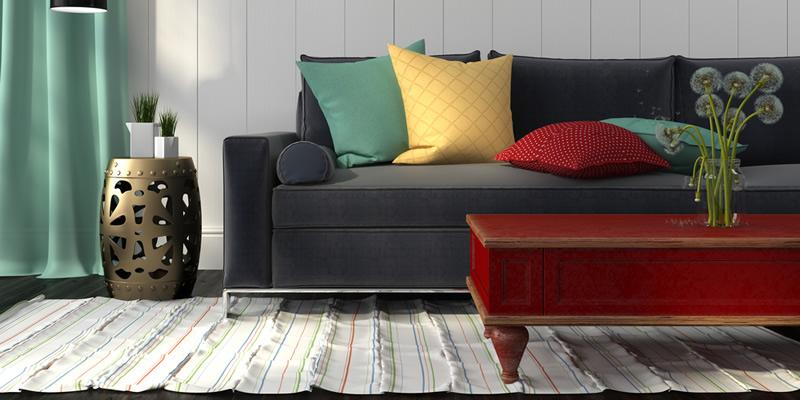 sofá oscuro