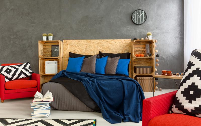 dormitorio decorar con cajas
