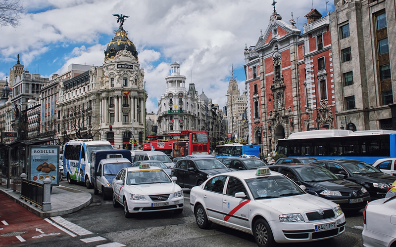 Madrid con coches