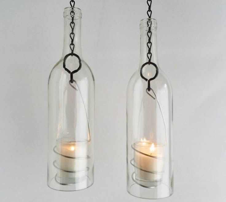 decorar botellas con velas