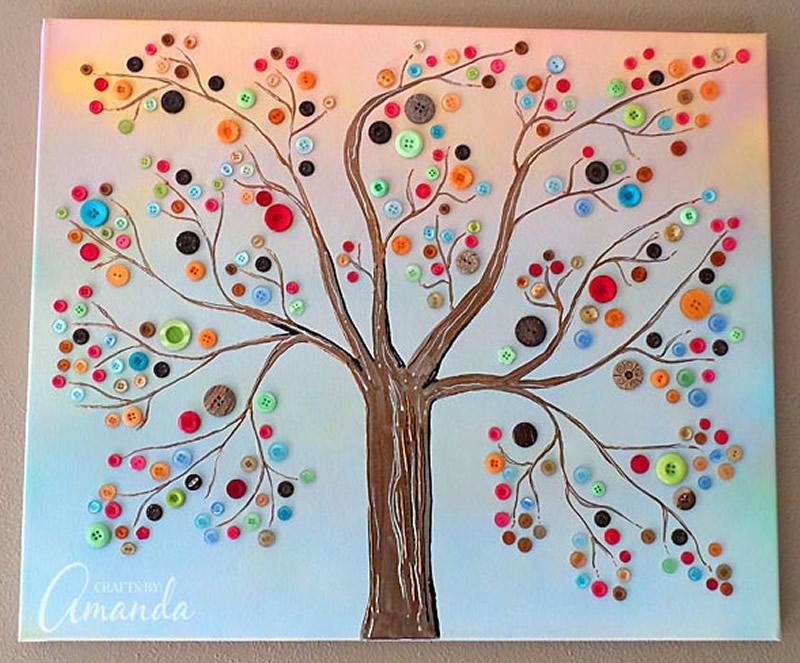 cuadro con botones de colores