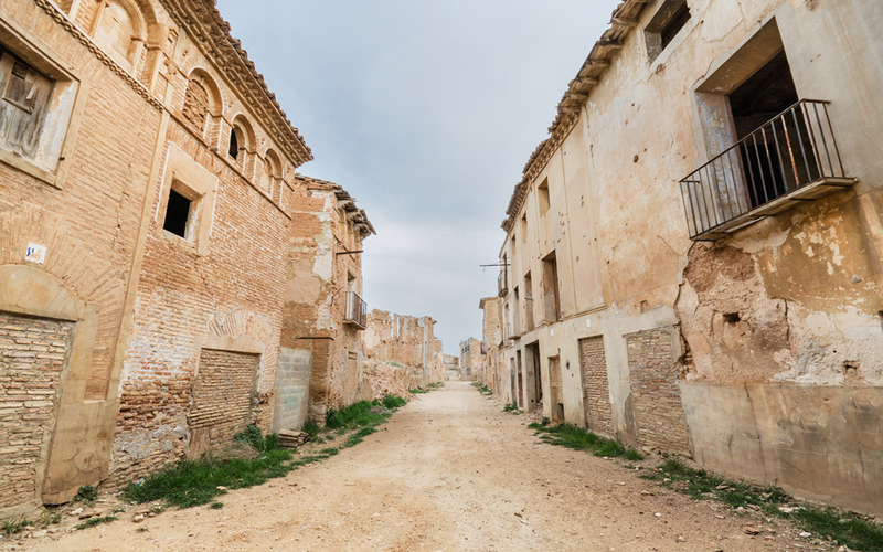 Belchite en Aragón