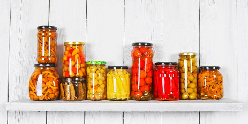 legumbres en tarro de cristal