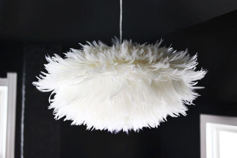 lampara DIY con plumas
