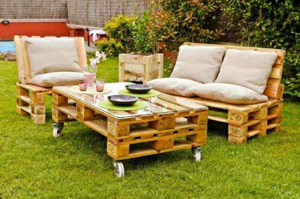 muebles jardin palets