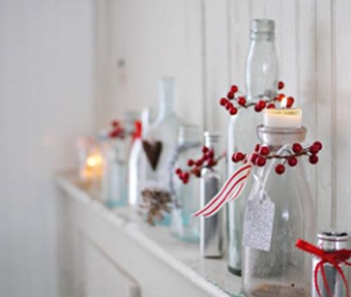 botellas deco navidad