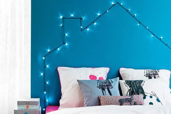 Cabecero con luces DIY