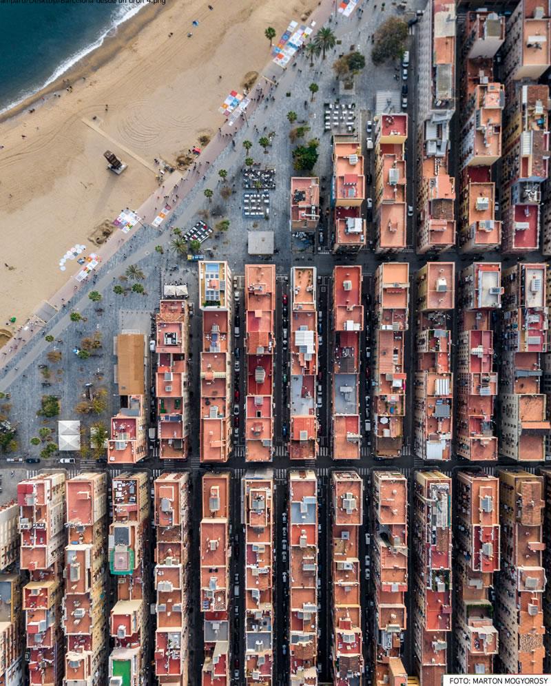 Barcelona desde un dron x